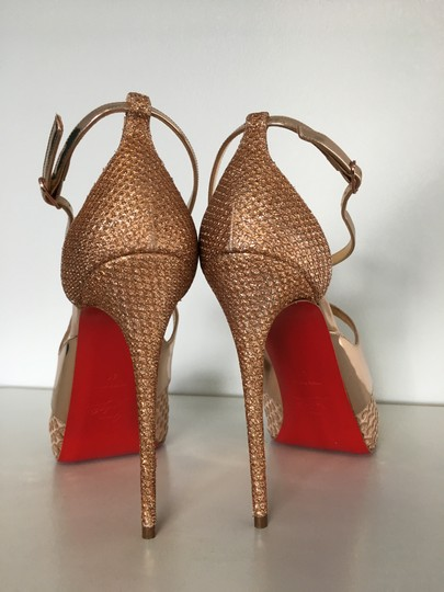 Christian Louboutin Classic Simple 85mm Heels Patent Leather Nude Sandals Image 11