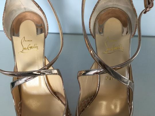 Christian Louboutin Classic Simple 85mm Heels Patent Leather Nude Sandals Image 6