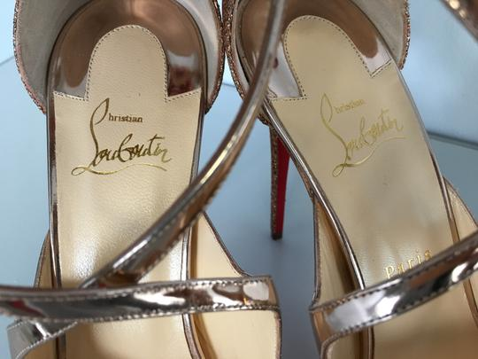 Christian Louboutin Classic Simple 85mm Heels Patent Leather Nude Sandals Image 7