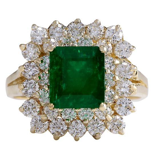 Preload https://img-static.tradesy.com/item/25592107/green-287ctw-natural-emerald-and-diamond-14k-solid-yellow-gold-ring-0-0-540-540.jpg