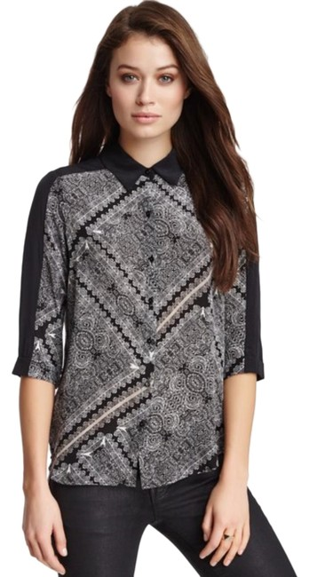 Preload https://img-static.tradesy.com/item/25592137/ella-moss-black-white-silk-bandana-blouse-size-8-m-0-2-650-650.jpg