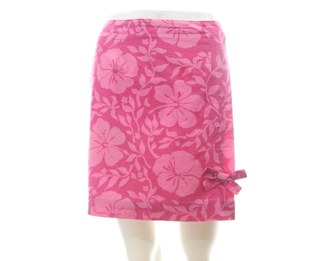 Item - Pink Floral Print Mini Skirt Size 4 (S, 27)