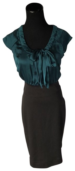 Preload https://img-static.tradesy.com/item/25592148/lapis-w-pencil-skirt-satin-bow-top-mid-length-workoffice-dress-size-6-s-0-1-650-650.jpg