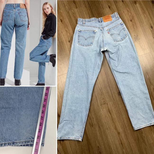 Vintage Levi's 565 Loose Fit Wide Leg Distressed Jeans Relaxed Fit Jeans-Light Wash Image 1
