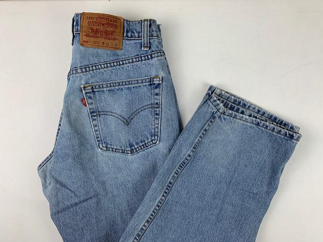 Vintage Levi's 565 Loose Fit Wide Leg Distressed Jeans Relaxed Fit Jeans-Light Wash Image 10