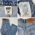 Vintage Levi's 565 Loose Fit Wide Leg Distressed Jeans Relaxed Fit Jeans-Light Wash Image 4