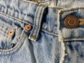 Vintage Levi's 565 Loose Fit Wide Leg Distressed Jeans Relaxed Fit Jeans-Light Wash Image 9
