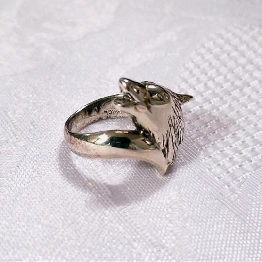 Peter Stone Fine Jewelry Sterling Silver Howling Wolf Ring SIZE 6 Image 1