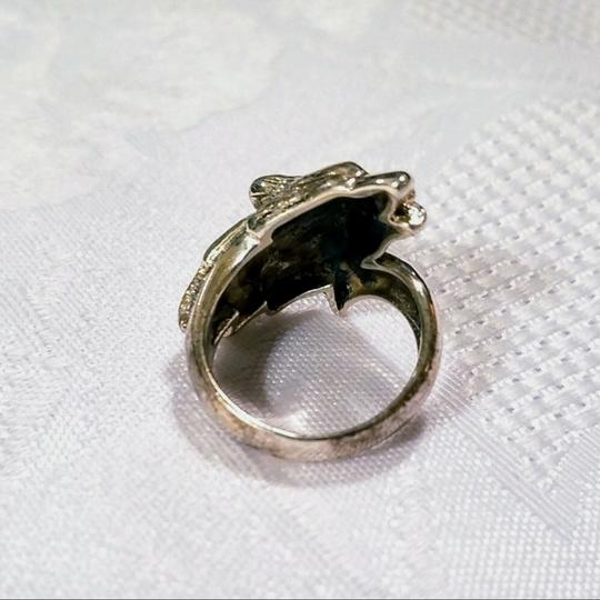 Peter Stone Fine Jewelry Sterling Silver Howling Wolf Ring SIZE 6 Image 2