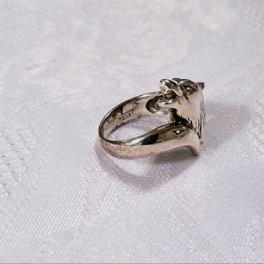 Peter Stone Fine Jewelry Sterling Silver Howling Wolf Ring SIZE 6 Image 4
