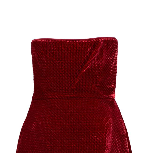 Valentino Velvet Strapless Quilted Satin Viscose Dress Image 4