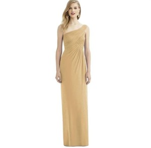 After Six Venete Lux Chiffon One Shoulder Formal Bridesmaid/Mob Dress Size 12 (L)