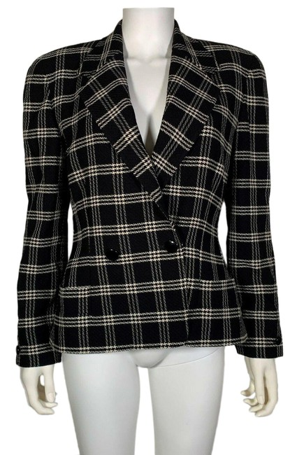 Preload https://img-static.tradesy.com/item/25592240/black-wool-white-houndstooth-career-women-italy-blazer-size-8-m-0-1-650-650.jpg