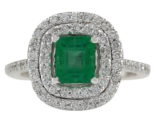 Preload https://img-static.tradesy.com/item/25592271/green-212ctw-natural-colombian-emerald-and-diamond-in-14k-white-gold-ring-0-0-540-540.jpg