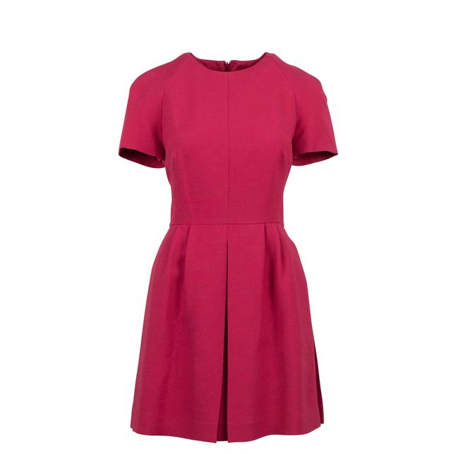 Preload https://img-static.tradesy.com/item/25592348/valentino-pink-wool-blend-sleeve-flare-short-formal-dress-size-6-s-0-0-650-650.jpg