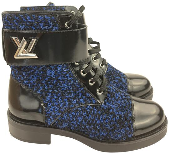 Preload https://img-static.tradesy.com/item/25592356/louis-vuitton-blue-and-black-lace-up-bootsbooties-size-eu-36-approx-us-6-regular-m-b-0-2-540-540.jpg
