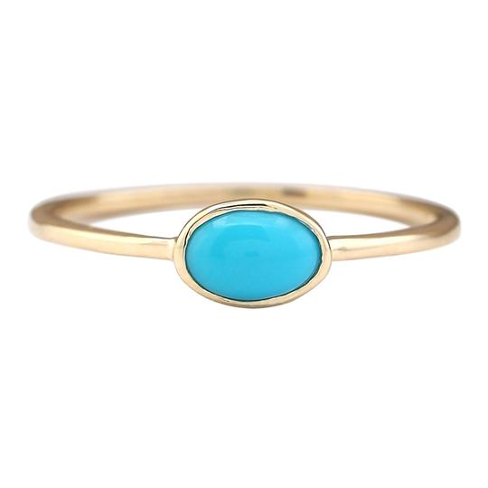 Preload https://img-static.tradesy.com/item/25592370/blue-060-ctw-natural-turquoise-in-14k-yellow-gold-ring-0-0-540-540.jpg
