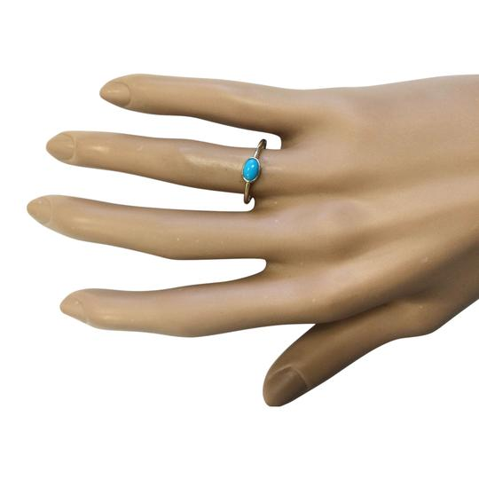 Fashion Strada 0.60 Ctw Natural Turquoise In 14k Yellow Gold Ring Image 3