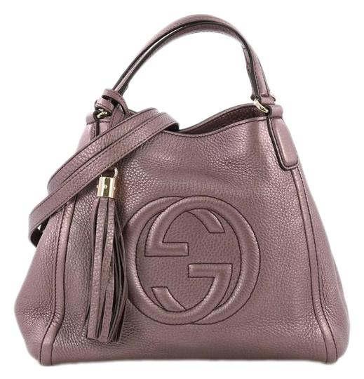 Preload https://img-static.tradesy.com/item/25592388/gucci-soho-convertible-small-metallic-purple-leather-shoulder-bag-0-1-540-540.jpg