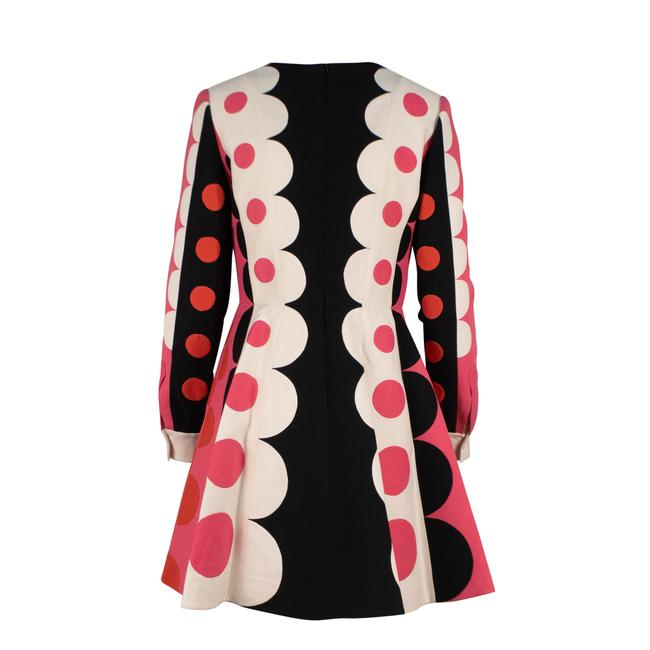 Valentino Polka Dot Wool Silk V-neck Longsleeve Dress Image 1