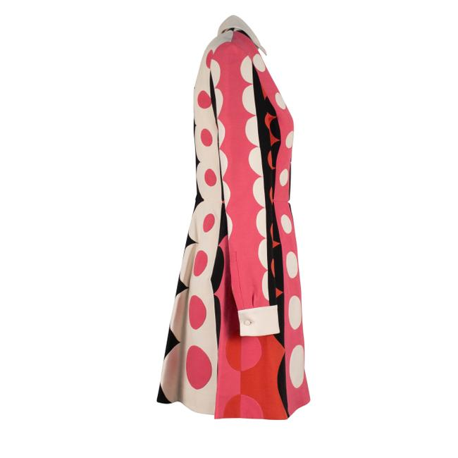 Valentino Polka Dot Wool Silk V-neck Longsleeve Dress Image 2