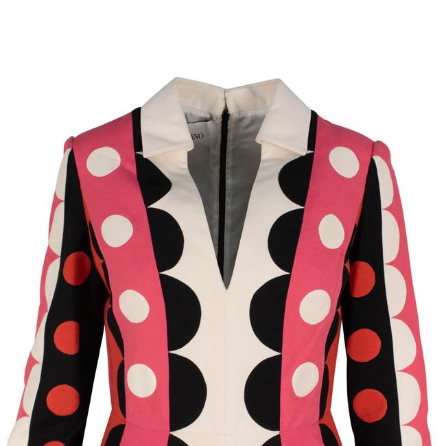 Valentino Polka Dot Wool Silk V-neck Longsleeve Dress Image 3