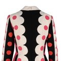 Valentino Polka Dot Wool Silk V-neck Longsleeve Dress Image 4