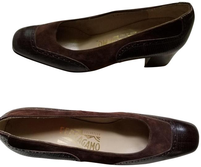 Item - Brown Leather/Suede Pumps Size US 7.5 Narrow (Aa, N)