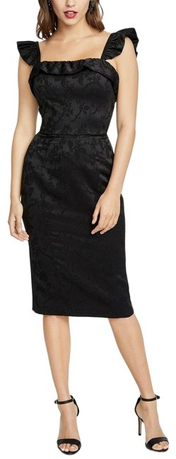 Preload https://img-static.tradesy.com/item/25592434/rachel-roy-black-ruffled-sheath-msrp-a-pretty-flora-mid-length-cocktail-dress-size-6-s-0-1-650-650.jpg