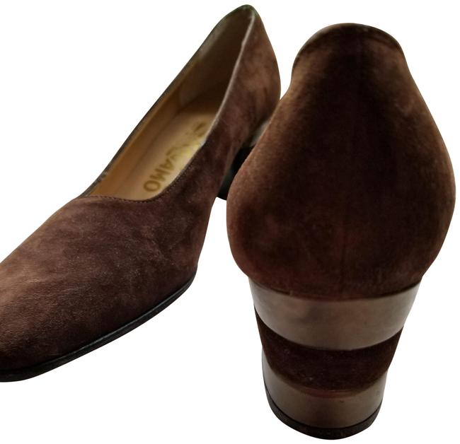 Item - Brown Suede with Leather Pewter Accent In Heel Pumps Size US 7.5 Narrow (Aa, N)