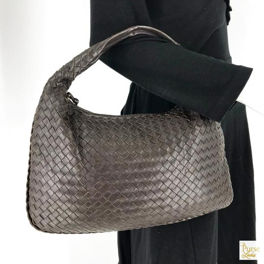 Bottega Veneta Intrecciato Leather Hobo Bag Image 1