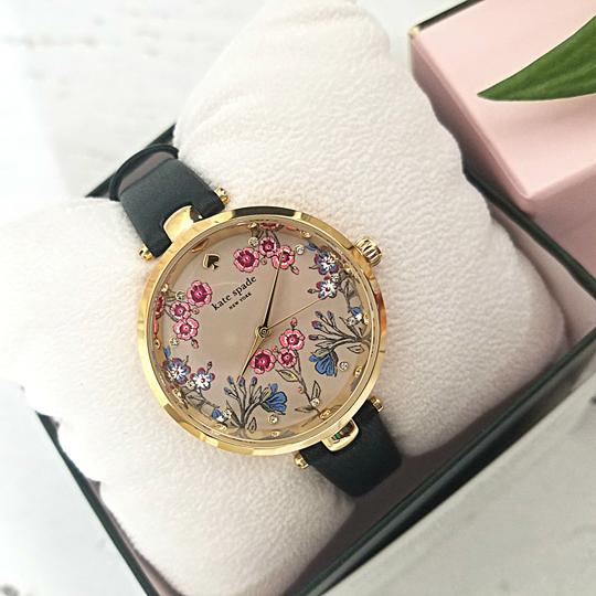 Kate Spade NEW holland three-hand black leather watch KSW1462 Image 3