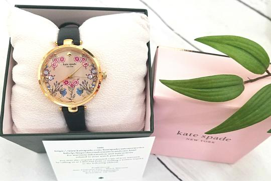 Kate Spade NEW holland three-hand black leather watch KSW1462 Image 5