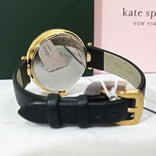 Kate Spade NEW holland three-hand black leather watch KSW1462 Image 8