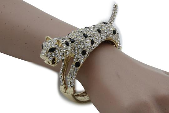 Alwaystyle4you Women Jewelry Gold Metal Cuff Bracelet Bling Hip Hip Leopard Tiger Image 1