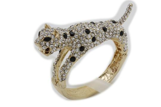 Alwaystyle4you Women Jewelry Gold Metal Cuff Bracelet Bling Hip Hip Leopard Tiger Image 2