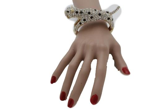 Alwaystyle4you Women Jewelry Gold Metal Cuff Bracelet Bling Hip Hip Leopard Tiger Image 3