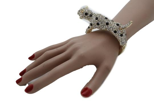 Alwaystyle4you Women Jewelry Gold Metal Cuff Bracelet Bling Hip Hip Leopard Tiger Image 7
