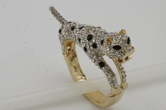 Alwaystyle4you Women Jewelry Gold Metal Cuff Bracelet Bling Hip Hip Leopard Tiger Image 8