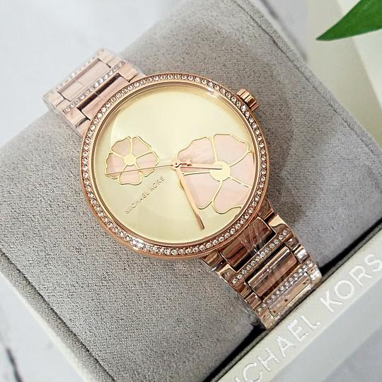 Michael Kors NWT Women's Courtney Rose Gold-Tone Watch MK3836 Image 2