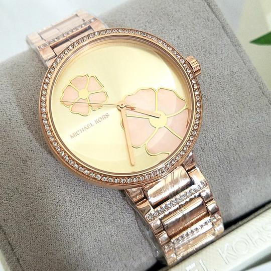 Michael Kors NWT Women's Courtney Rose Gold-Tone Watch MK3836 Image 3