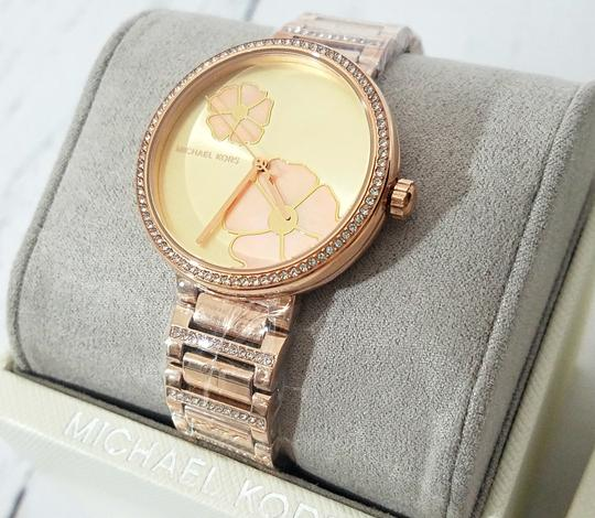 Michael Kors NWT Women's Courtney Rose Gold-Tone Watch MK3836 Image 4