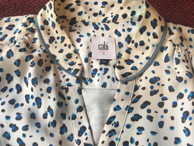 CAbi short dress White with brown and turquoise Summer Summer Sleeveless on Tradesy Image 3
