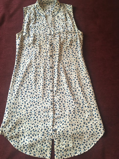 CAbi short dress White with brown and turquoise Summer Summer Sleeveless on Tradesy Image 4