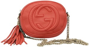 Gucci Double G Chain Leather Soho Cross Body Bag