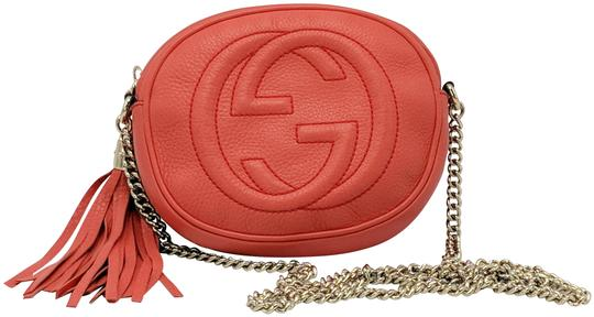 Gucci Double G Chain Leather Soho Cross Body Bag Image 0