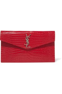 Saint Laurent Ysl Clutch Pouch Monogram Wristlet in red - item med img