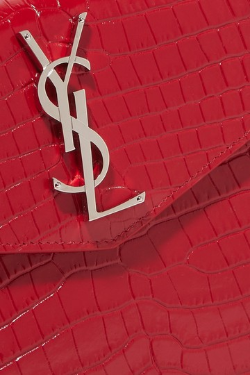 Saint Laurent Ysl Clutch Pouch Monogram Wristlet in red Image 2