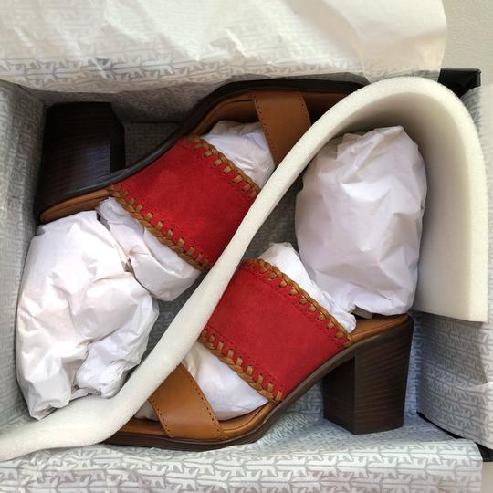 Frye Made In Italy Sandal Leather Suede orange Mules Image 3