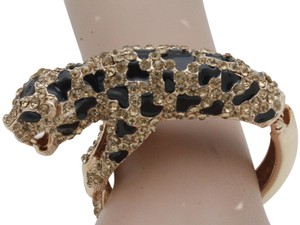 Alwaystyle4you Hot Women Fashion Jewelry Gold Metal Cuff Bracelet Bling Leopard Tiger